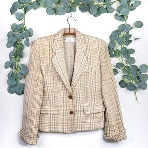 Christian Dior Vintage Plaid Blazer   Medium   EUC